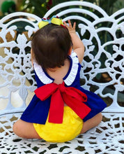 Load image into Gallery viewer, Snow White Baby Girl Clothes Bowknot Romper Tops Dress Shorts Outfit Summer - shopbabyitems