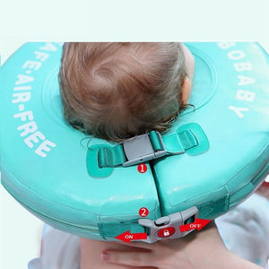 Solid Safety Not Need Inflatable Baby swim Floating Neck Ring Swimming float - shopbabyitems