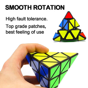Speed Cubes Sticker cubo Less Pyramid Magic Cubes Puzzle Toys for Adults Learning Magical Puzzles Toys for Children - shopbabyitems