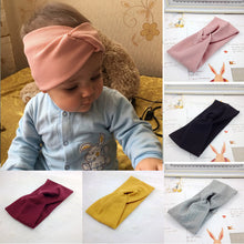 Load image into Gallery viewer, Spring Summer Solid Color Baby Headband Girls Twisted Knotted Soft Elastic Baby Girl Headbands - shopbabyitems
