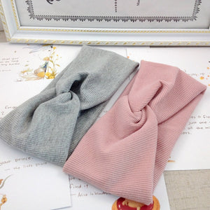 Spring Summer Solid Color Baby Headband Girls Twisted Knotted Soft Elastic Baby Girl Headbands - shopbabyitems