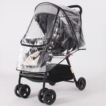 Load image into Gallery viewer, Stroller Accessories Waterproof Rain Cover Transparent Wind Dust Shield Zipper Open For Baby Strollers Pushchairs Raincoat - shopbabyitems