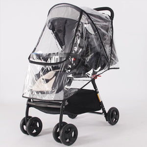 Stroller Accessories Waterproof Rain Cover Transparent Wind Dust Shield Zipper Open For Baby Strollers Pushchairs Raincoat - shopbabyitems