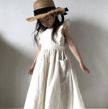Load image into Gallery viewer, Toddler Kids Girl Dress Ruffles Princess Linen Dress Fashion Summer Clothing - shopbabyitems
