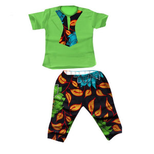 Baby Boy Top Pants Suit Dashiki Print Bazin African - shopbabyitems