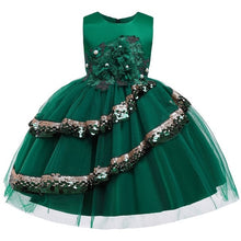 Load image into Gallery viewer, Summer girl elegant sleeveless princess dress Delicate sequin children's birthday party sweet dress Christmas dress - shopbabyitems