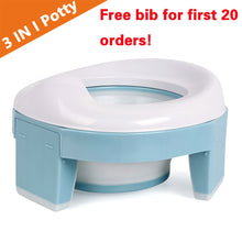 Load image into Gallery viewer, Baby Pot Portable Silicone Baby Potty  Training Seat 3 in 1 Travel Toilet Seat - shopbabyitems