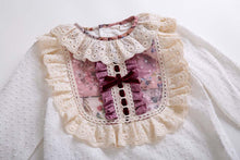 Load image into Gallery viewer, White Lace Blouse  +Flower Skirts Girls Sets Children Clothes - shopbabyitems