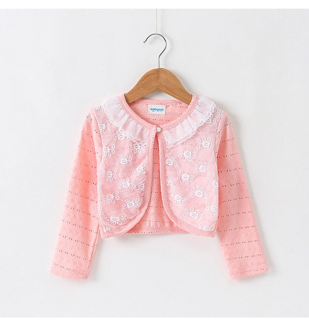 Thin Cotton Lace Cardigan For Girls Full-Sleeve Girls Cardigan 1-10T - shopbabyitems