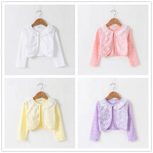 Load image into Gallery viewer, Thin Cotton Lace Cardigan For Girls Full-Sleeve Girls Cardigan 1-10T - shopbabyitems