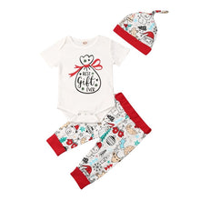 Load image into Gallery viewer, Toddler Baby Girls BoyZ Christmas Xmas Bodysuit Tops Pants Hat Autumn Clothes - shopbabyitems