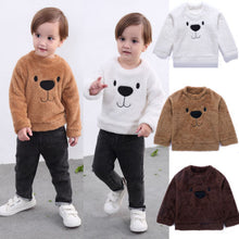 Load image into Gallery viewer, Toddler Baby Girls Boys Bear Tops Blouse Long Sleeve Sweatshirt Thick Clothes Winter Size 2-5T - shopbabyitems
