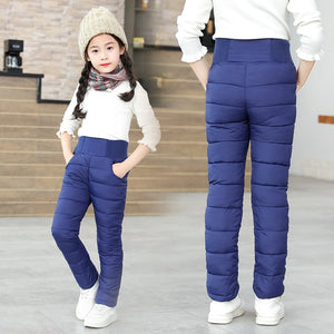 Toddler Kid Boys Girls Winter Pants Cotton Padded Thick Warm Trousers Waterproof Ski Pants 9 10 12 Year High Waist Leggings Baby - shopbabyitems