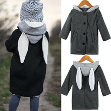 Load image into Gallery viewer, Toddler Kid Girls Autumn Clothes Boy Clothes  Cute Long Sleeve Rabbit Ear Hooded Coat - shopbabyitems