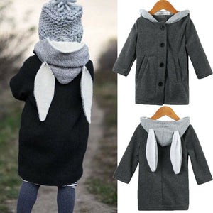 Toddler Kid Girls Autumn Clothes Boy Clothes  Cute Long Sleeve Rabbit Ear Hooded Coat - shopbabyitems