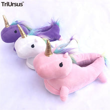 Load image into Gallery viewer, Toddler Kids Unicorn Shoes For Girls Cartoon Animal Children Kids Home Indoor Slippers Cosplay Wear Anti Skid Baby Girl Slippers - shopbabyitems