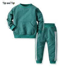 Load image into Gallery viewer, Top and Top Fashion Baby kids Boys Girls Clothes Set Pullover Sweatshirt Jacket+Trousers Infant Casual 2Pcs Outfits Suit - shopbabyitems