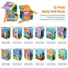 Load image into Gallery viewer, 12pcs Baby Toys Cloth Books Letter Number Infant Educational Stroller Rattle Toy - shopbabyitems