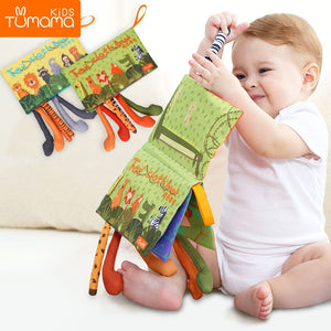 Tumama Baby Rattles Mobiles Toy Soft Animal Tails Cloth - shopbabyitems