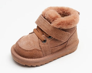 Winter Baby Snow Boots For Children 2020 New Boys Girls Fashion Cute Velvet Padded Cotton Shoes Plush Soft Bottom Footwear - shopbabyitems