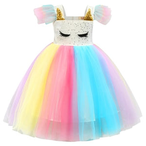 Unicorn Dress for Girls Children Girl Carnival Costume Party Dresses Birthday Gift Princess Girls Clothes Toddler Girl Dresses - shopbabyitems
