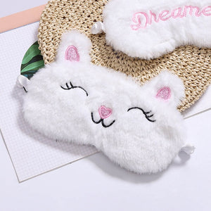 Unicorn Eye Mask Cartoon Variety Sleeping Mask Plush Eye Shade Cover - shopbabyitems