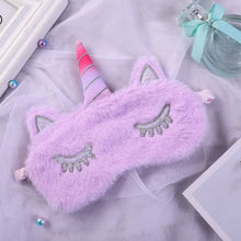 Load image into Gallery viewer, Unicorn Eye Mask Cartoon Variety Sleeping Mask Plush Eye Shade Cover - shopbabyitems
