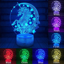 Load image into Gallery viewer, Unicorn Lamp Night Light Pegasus 3D Led Lamps Night Light LED Night Light Decor Led light Lamp Led Touch Light Child Lamp D30 - shopbabyitems