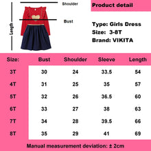 Load image into Gallery viewer, Children Girls Dresses Heart Applique Kids Dress Long Sleeve Red Dress Christmas Dress Girl Autumn Winter Sequins Dresses - shopbabyitems