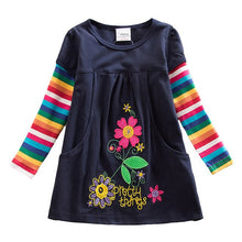 Load image into Gallery viewer, Girls Flower Dresses Children Cotton Dress Long Sleeve Autumn Winter Cartoon Kids Dress For Girls - shopbabyitems