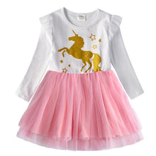 Load image into Gallery viewer, Girls Unicorn Dress Girl Autumn Long Sleeve Christmas New Year Dresses Kids School Princess Dresses Children Clothes - shopbabyitems