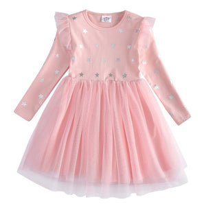 Girls Unicorn Dress Girl Autumn Long Sleeve Christmas New Year Dresses Kids School Princess Dresses Children Clothes - shopbabyitems