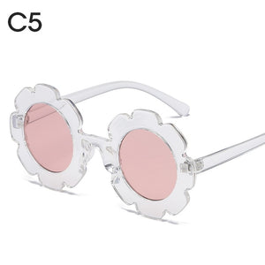 Vintage Kids Sunglasses Child Sun Glasses Round Flower - shopbabyitems