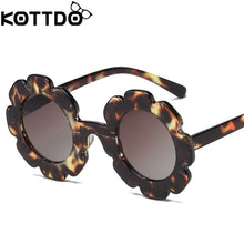 Load image into Gallery viewer, Vintage Kids Sunglasses Child Sun Glasses Round Flower - shopbabyitems