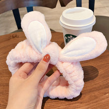 Load image into Gallery viewer, Wash Face Women Girls Hairbands Soft Warm Coral Fleece Bow Animal Ears Headbands - shopbabyitems