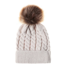 Load image into Gallery viewer, Winter Hats For Kid Knit Beanie Baby Hat 2020 Children Fur Pom Pom Hats For Girls Boys Warm Cap - shopbabyitems