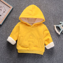 Load image into Gallery viewer, Winter Kids Plus velvet sweatshirts hoodies Thick cotton Fashion Baby Boys girl Warm Cashmere coat - shopbabyitems