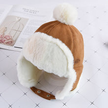 Load image into Gallery viewer, Winter Warm Baby Beanie Hat With Pompom Protect Ear Cap For Baby - shopbabyitems