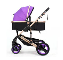 Load image into Gallery viewer, Wisesonle baby stroller 2 in 1 stroller lying or dampening folding light weight two-sided child four seasons Russia - shopbabyitems