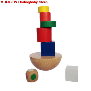 Wooden Education Learning Baby Games Blocks Building Construction - shopbabyitems