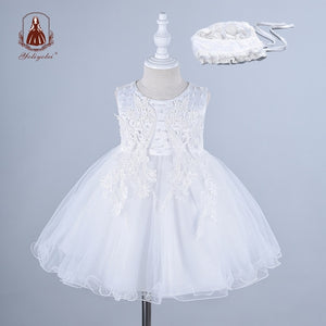 Newborn Baby Kids Girl Princess Dress Holidays Party Wedding Casual Dresses Baby Children Girl Clothes with Hairband - shopbabyitems