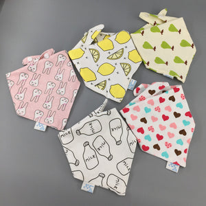 baby bibs drooling cotton 5 pieces/lot baby scarf - shopbabyitems