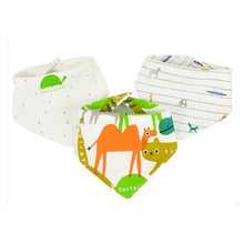 Load image into Gallery viewer, baby bibs waterproof  for 0-2 years old 3 pieces/set , cotton bandana accessories 3layers - shopbabyitems