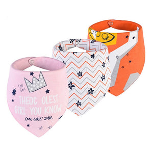 baby bibs waterproof  for 0-2 years old 3 pieces/set , cotton bandana accessories 3layers - shopbabyitems