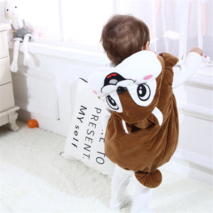 cute Children Autumn Winter Vest Boys girls Baby Kids Thick Cartoon Mouse Hooded Warm Waistcoat Clothing Outerwear - shopbabyitems