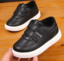 Load image into Gallery viewer, kids sneakers boys shoes girls trainers Children leather shoes white black school shoes - shopbabyitems