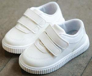 kids sneakers boys shoes girls trainers Children leather shoes white black school shoes - shopbabyitems