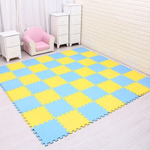 Foam Play Puzzle Mat for kids Interlocking Exercise Tiles Floor Carpet Rug, - shopbabyitems
