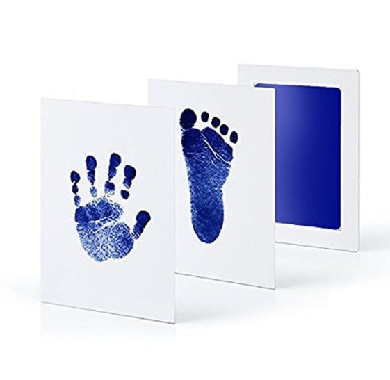 Safe Non-toxic Baby Footprints Handprint No Touch Skin Inkless Ink Pads Kits - shopbabyitems