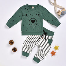 Load image into Gallery viewer, Cartoon Bear Sweatshirt Tops+ Pants Outfits Set - shopbabyitems